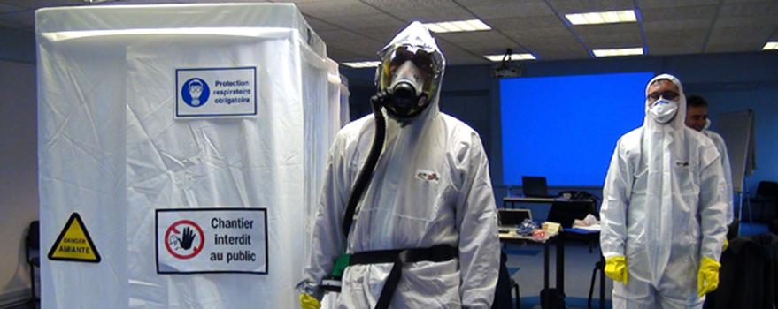 Formation à la prévention du risque d'amiante.